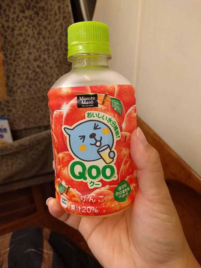 上車後先來瓶Qoo~